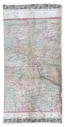 1859 Colton Pocket Map Of Arkansas  Bath Towel