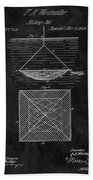 1869 Fishnet Patent Bath Towel