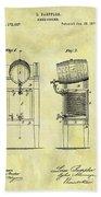 1876 Beer Cooler Patent Bath Towel