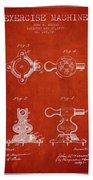 1879 Exercise Machine Patent Spbb08_vr Bath Towel