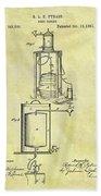 1881 Beer Cooler Patent Bath Towel