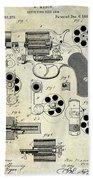 1881 Revolver Patent  Bath Towel