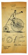 1883 Bicycle Bath Towel