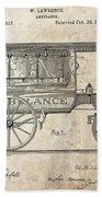 1889 Ambulance Patent Bath Towel