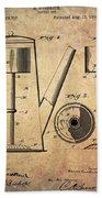 1889 Coffee Maker Patent Bath Towel