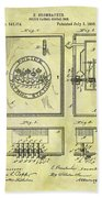 1895 Police Call Box Bath Towel