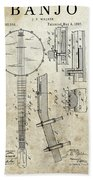 1897 Banjo Patent Bath Towel