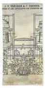 1897 Beer Brewering Patent  Bath Towel