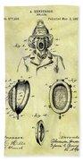 1897 Fireman's Inhaler Patent Bath Towel