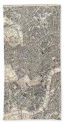 1899 Bacon Pocket Plan Or Map Of London  Bath Towel