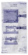 1900 Knife Switch Patent Blueprint Bath Towel