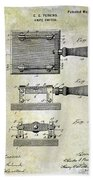 1900 Knife Switch Patent Bath Towel