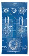 1902 Golf Ball Patent Artwork - Blueprint Bath Towel