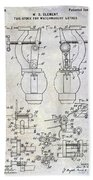 1902 Watchmakers Lathes Patent Bath Towel