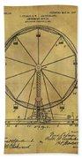 1907 Ferris Wheel Patent Bath Towel