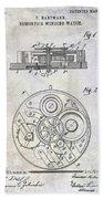 1908 Pocket Watch Patent  Bath Towel