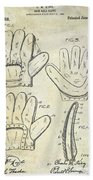 1910 Baseball Glove Patent  Hand Towel