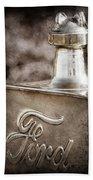 1911 Ford Model T Torpedo Hood Ornament - Emblem -317ac Bath Towel