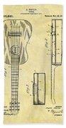 1911 Guitar Patent Bath Towel