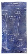 1911 Mechanical Skeleton Patent 1 Blue Bath Towel