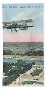 1911 Paris Eiffel Tower Colorized Postcard Bath Towel