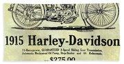 1915 Harley Davidson Advertisement Hand Towel