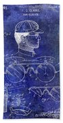 1916 Sunglasses Patent Blue Bath Towel