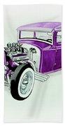 1920s Hotrod Pickup Bath Towel