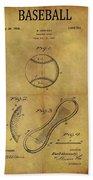 1924 Baseball Patent Hand Towel