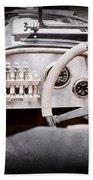 1925 Aston Martin 16 Valve Twin Cam Grand Prix Steering Wheel -0790ac Bath Towel
