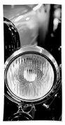 1925 Lincoln Town Car Headlight Bath Towel