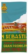1926 San Sebastian Grand Prix Racing Poster Bath Towel