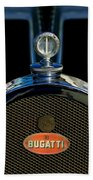 1927 Bugatti Replica Hood Ornament Bath Towel