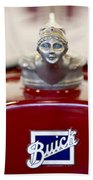 1928 Buick Custom Speedster Hood Ornament 2 Bath Towel