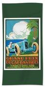 1929 Cap D'antibes Grand Prix Racing Poster Bath Towel