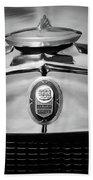 1929 Graham-paige Sport Roadster Emblem -0810bw Bath Towel