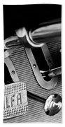1931 Alfa Romeo 6c 1750 Gran Sport Aprile Spider Corsa Pedals -3689bw Bath Towel