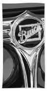 1933 Buick Victorian Emblem B And W Bath Towel