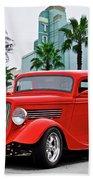 1933 Ford 'three Window' Coupe II Bath Towel
