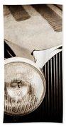 1936 Bugatti Type 57s Corsica Tourer Grille Emblem -1673s Bath Towel