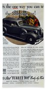 1936 Buick Century Classic Ad Bath Towel