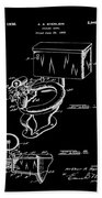1936 Toilet Bowl Patent Black Bath Towel