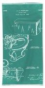 1936 Toilet Bowl Patent Green Bath Towel