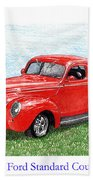 1939 Ford Standard Coupe Bath Towel