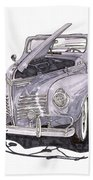1940 Plymouth P 1 Convertible Hand Towel