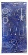 1940 Waitress Uniform Patent Blue Bath Towel