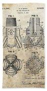 1940s Oil Drill Bit Patent Bath Towel