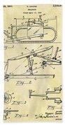1941 Bulldozer Patent Bath Towel