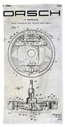 1941 Porsche Brake Mechanism Patent Bath Towel