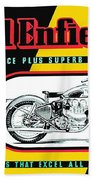 1941 Royal Enfield Motorcycle Ad Bath Towel